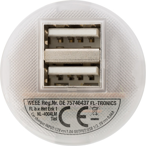 USB-KFZ Ladestecker 'Duo' aus Kunststoff,... Artikel-Nr. (3280)