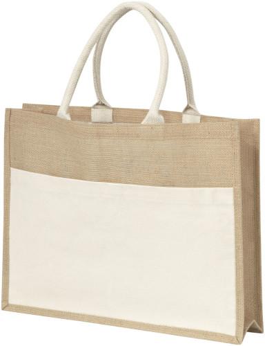 Shopper 'Nature' aus Jute, mit Fronttasche,... Artikel-Nr. (4223)