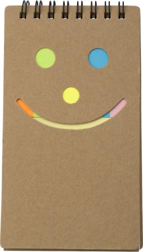 Notizbuch 'Happy face', 6x 25 Haftnotizen,... Artikel-Nr. (5351)