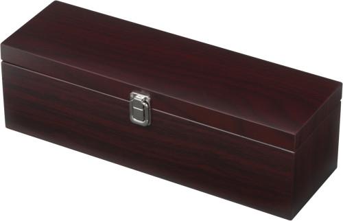 Luxus-Weinset 'Merlot', 5-tlg. in Holz-Geschenkbox,... Artikel-Nr. (6814)