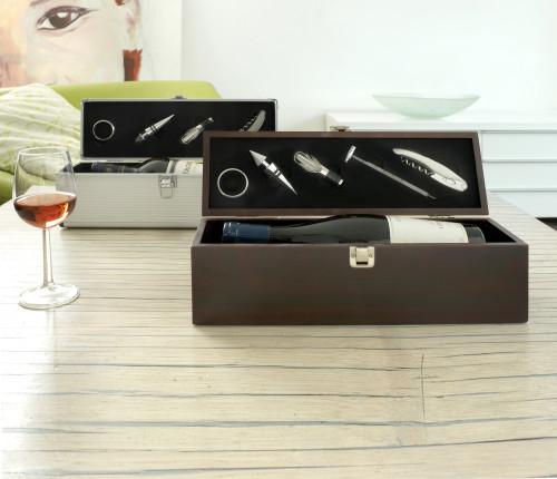 Luxus-Weinset 'Alu-Line', 4-tlg., passend... Artikel-Nr. ()