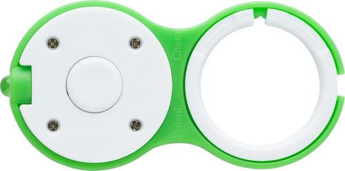 Schlüsselanhänger 'Hook' aus Kunststoff, inklusive LED-Lampe (weiß) - Bild vergrößern