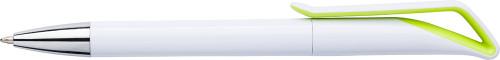 Kugelschreiber 'White Swan' aus Kunststoff,... Artikel-Nr. (7500)