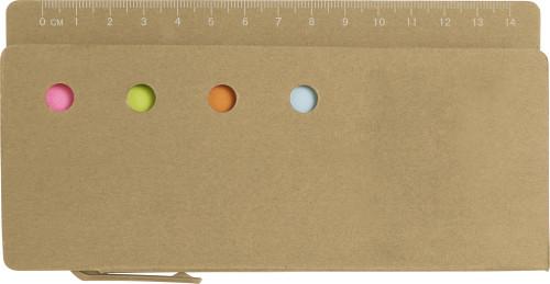 Haftnotiz-Set 'Pur' mit Lineal-Aufdruck... Artikel-Nr. (7830)