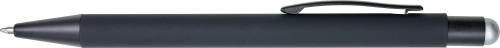 Gummierter schwarzer Kugelschreiber... Artikel-Nr. (8477)