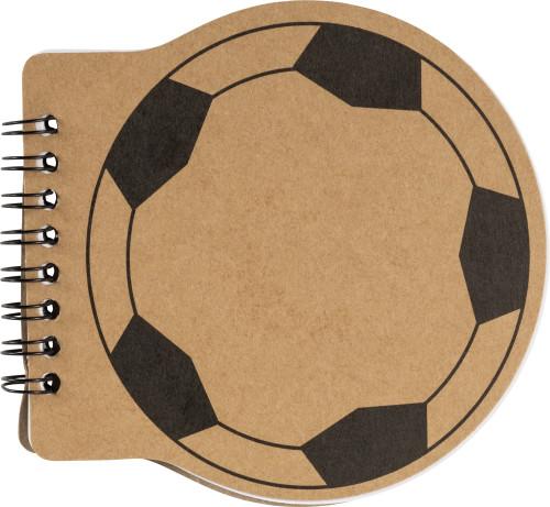 Notizbuch 'Goal' aus 600 g/m² Karton... Artikel-Nr. (8584)