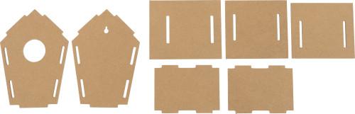 Vogelhaus aus MDF als Steck-Bausatz Artikel-Nr. (8606)