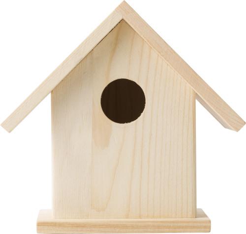 Vogelhaus aus Holz mit vier Malfarben... Artikel-Nr. (8868)